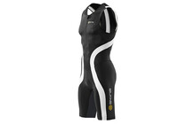 Skins TRI400 Sleeveless Suit w Front Zip Men's black/white
